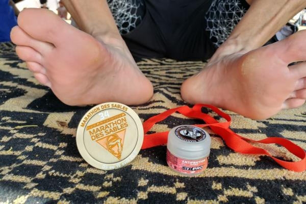 Preparation of the feet for the MARATHON DES SABLES